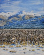 Snowscape Paintings - North Of Taos by Stanton Allaben