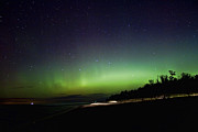 Northern Lights Prints - Northern Lights in Muskegon Michigan Print by Joe Gee