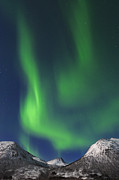 Fantasy Surreal Spooky Photography Framed Prints - Northern Lights Near Tromso, Troms, Norway Framed Print by Martin Ruegner