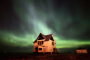 Urban Scene Digital Art Framed Prints - Northern Lights over Southern Saskatchewan Framed Print by Mark Duffy