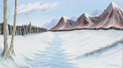 Snowscape Painting Posters - Northern Wilderness Poster by David Rewhorn