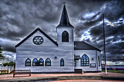 Steve Purnell Metal Prints - Norwegian Church Cardiff Bay Metal Print by Steve Purnell