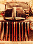 Old Postcards Prints - Nostalgic Rusty Old Ford Truck . 7D10281 Print by Wingsdomain Art and Photography