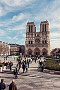 West Paris Prints - Notre Dame Print by Benjamin Matthijs