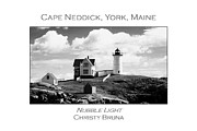 Southern Maine Posters - Nubble Light Poster by Christy Bruna
