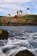 Cape Neddick Lighthouse Prints - Nubble Light Print by David DesRochers
