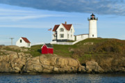 Maine Lighthouses Framed Prints - Nubble Light Framed Print by John Greim