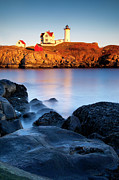 Nubble Lighthouse Photo Posters - Nubble Lighthouse Poster by Brian Jannsen