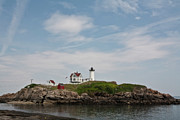 Nubble Lighthouse Framed Prints - Nubble Lighthouse Framed Print by Warren Carrington