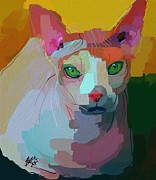 Kitty Digital Art - Nude Kitty by Stacy Moore
