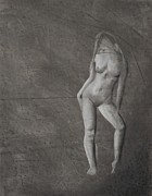 Figure Study Drawings Prints - Nude Study Print by Ben Jackson