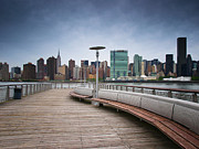Ny State Prints - NYC Brooklyn Quai Print by Nina Papiorek