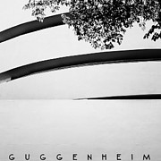 Landscapes Posters - NYC Guggenheim Poster by Nina Papiorek