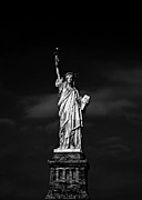 Black  Framed Prints - NYC Miss Liberty Framed Print by Nina Papiorek