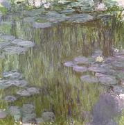 Nympheas Painting Prints - Nympheas at Giverny Print by Claude Monet