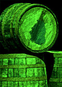 Wine Barrel Photos - Oak Barrel Green by LeeAnn McLaneGoetz McLaneGoetzStudioLLCcom