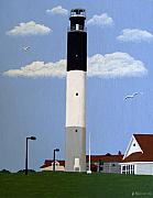 Historic Buildings Paintings - Oak Island Lighthouse by Frederic Kohli