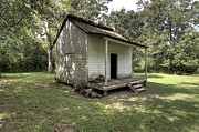 Slaves Prints - Oakley Plantation Slaves Quarters Print by Bourbon  Street