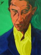 Barack Obama Painting Prints - Obama Print by Jason JaFleu Fleurant