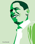 Michelle Obama Digital Art Metal Prints - Obama Metal Print by Kennedy Franz