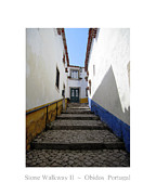 Hand Crafted Art - Obidos Stone Walkway II Portugal by John A Shiron