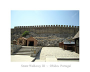 Hand Crafted Art - Obidos Stone Walkway III Portugal by John A Shiron