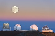 Keck Telescope Posters - Observatories On Summit Of Mauna Kea Poster by David Nunuk