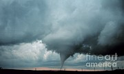 Oklahoma City Tornado Photo Posters - Occluded Mesocyclone Tornado Sequence Poster by Science Source