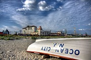 Boardwalk Prints - Ocean City Lifeboat Print by John Loreaux