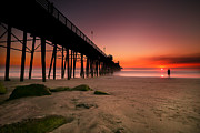 Surf Photography Prints - Oceanside Sunset 10 Print by Larry Marshall