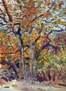 Autumn Painting Originals - October Colors by Donald Maier