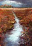 Nj Pastels - October Goshen Creek by Peter R Davidson