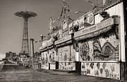Coney Island Framed Prints - Off Season Framed Print by JC Findley
