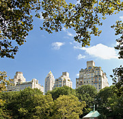 Office Space Photo Framed Prints - Office Buildings from Central Park Framed Print by Inti St. Clair