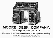 Desk Posters - Office Desk Ad, 1890 Poster by Granger