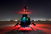 Helicopter Pilot Framed Prints - Oh-58d Kiowa Pilots Run Framed Print by Terry Moore