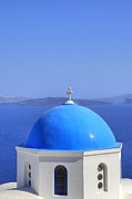 Church Prints - Oia - Santorini Print by Joana Kruse