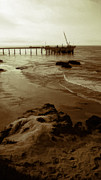 Oil Pier Print by Ron Regalado