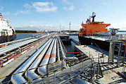 Terminal Photos - Oil Pipelines And Tankers by Ria Novosti