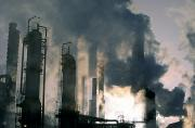 Oil Rigs Prints - Oil Refinery, Pollution Print by Ron Watts