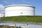Esso Photos - Oil Refinery Storage Tank by Paul Rapson