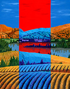 Fields Paintings - Okanagan Vineyards by Randall Weidner