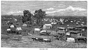 Indian Territory Prints - Oklahoma City, 1889 Print by Granger