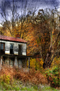 Haunted House Prints - Old Abandoned House in Fall Print by Jill Battaglia