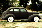 Wingsdomain Art and Photography - Old Black Plymouth Car For Sale . 7D8836