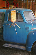 Rusted Cars Posters - Old Blue Farm Truck Poster by Randy Harris