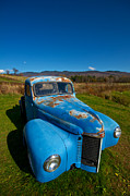 Rusty Pickup Truck Photos - Old Blue by Mike Horvath