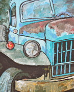 Old Truck Posters - Old Blue Poster by Sandy Tracey