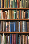 Old Books On A Bookshelf Print by Paul Edmondson