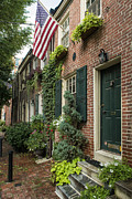 Townhouses Framed Prints - Old City Philadelphia Framed Print by John Greim
